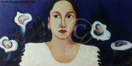Woman with Lilies