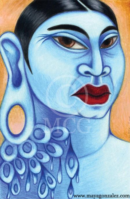 Blue Chicana Buddha
