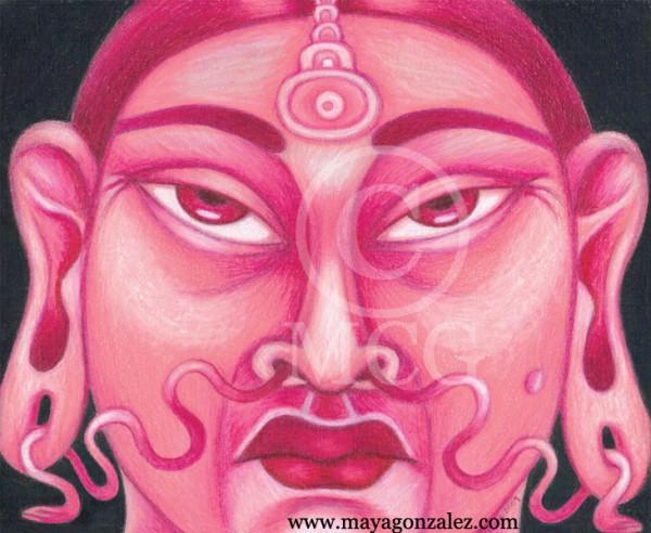 Pink Chicana Buddha