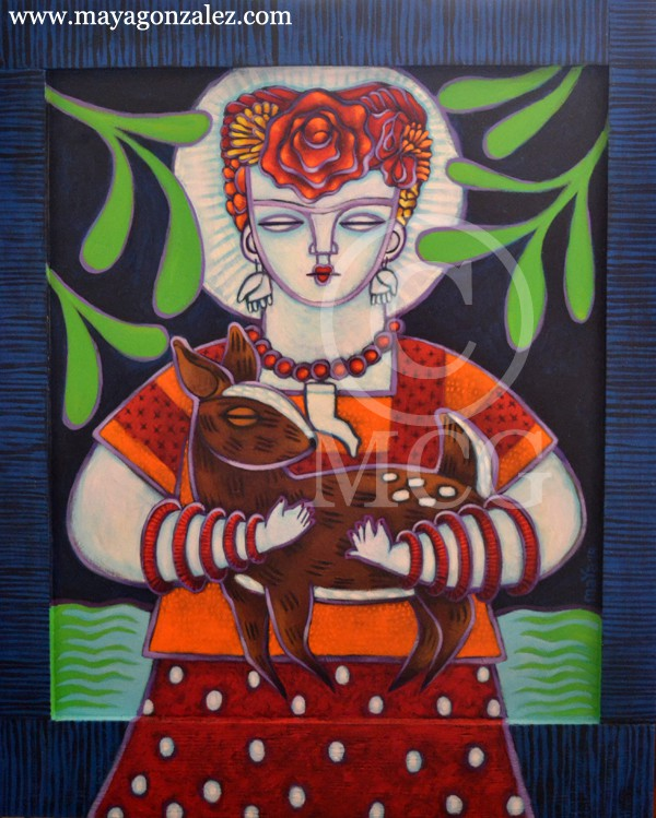 Frida with Deer