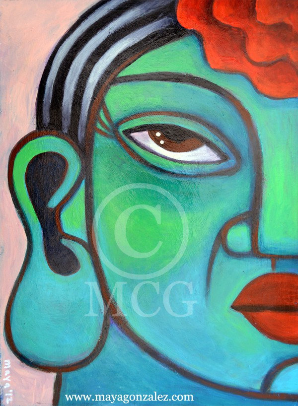 Green Chicana Buddha