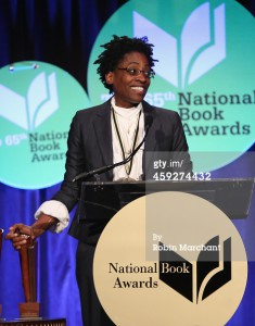 attends 2014 National Book Awards on November 19, 2014 in New York City.