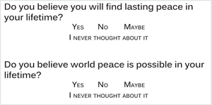 Is Peace Possible?