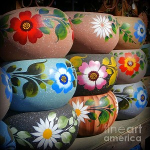 flower paint bowl