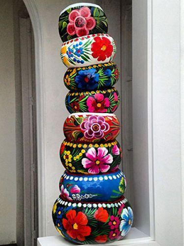 tower flower bowl