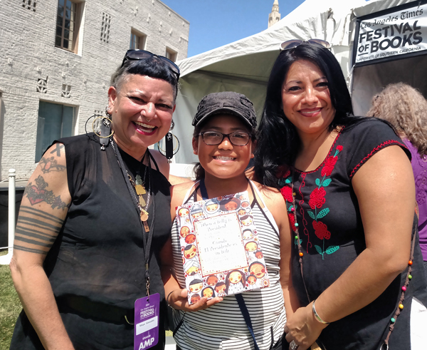 Maya, Julia Rae and Sandra at LA Times book festival