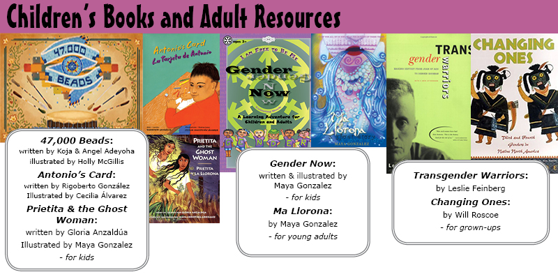 Children's Books and Adult Resources on Gender and Queerness and Indigenous History