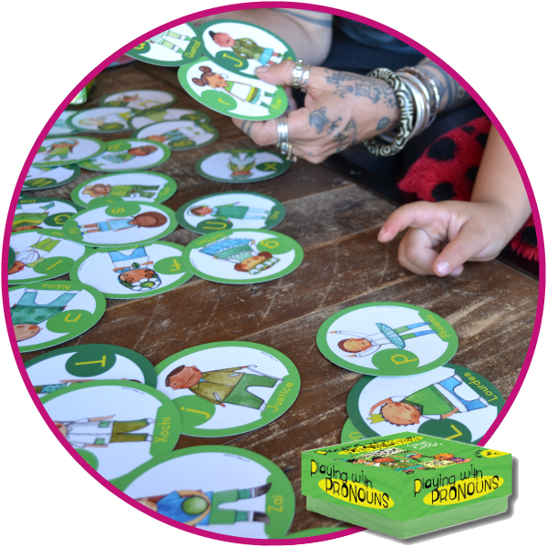 Playing with Pronouns Game & Educational Cards